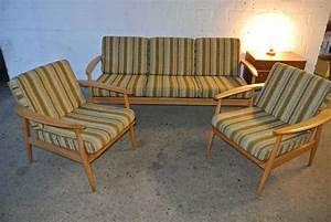 Sofa 50er Jahre : 50er 60er jahre sitzgruppe sofa 2 sessel d nischer stil knoll mid century ~ Markanthonyermac.com Haus und Dekorationen