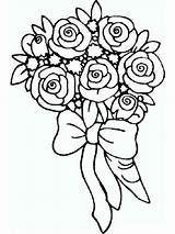 Coloring Rose Flower Flowers Printable Mycoloring Recommended sketch template