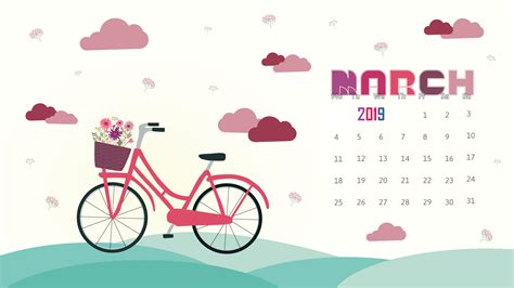 Free March 2019 Calendar Wallpaper #march2019
