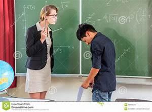 Teacher Criticizing A Pupil In School Class Stock Image ...