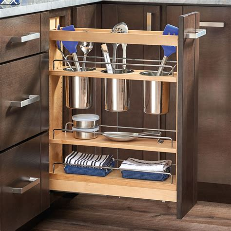 pull out her cabinet rev a shelf 5 quot pull out cabinet utensil organizer