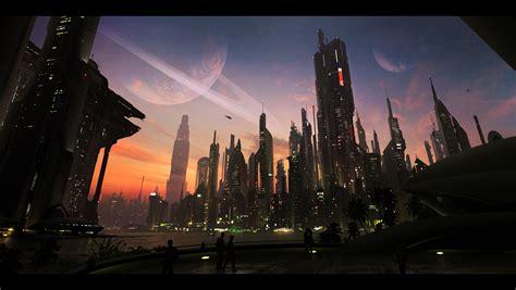 Download Cityscapes Futuristic Wallpaper 1600x903 ...