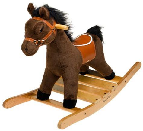 rocking horse plush horses doug melissa toys amazon wooden toy animals play stuffed olds children baby animal harness saddle toddlers