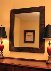 Rustic Framed Mirror Java Finish 30 X 40 By