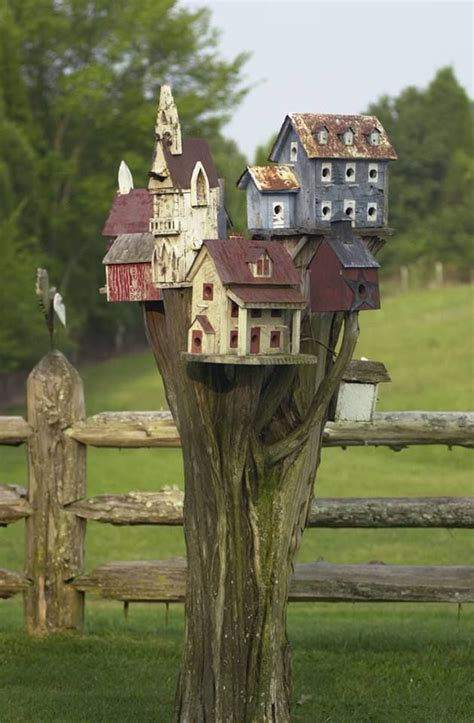 little birdhouse village too bad i m scared of birds