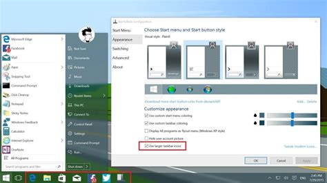 taskbar icons bigger  windows