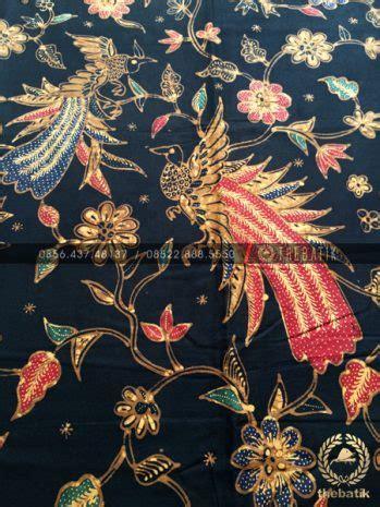 jual bahan baju batik kain batik tulis motif burung cendrawasih latar hitam thebatikcoid