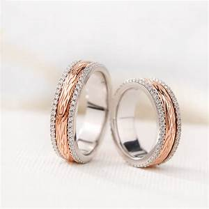Silver Age Couples Rings Rose Gold Spinner Wedding Bands
