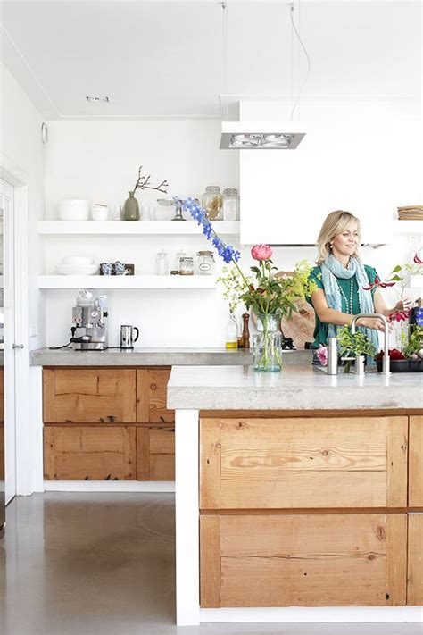 how to decorate the top of my kitchen cabinets a wooden kitchen with a concrete top the style files 9894
