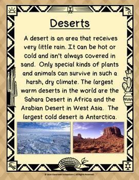 desert biome habitat science pack worksheets vocabulary