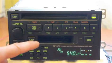 toyota fujitsu ten ltd 16804 radio toyota fujitsu ten
