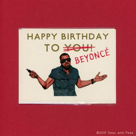 Meme Happy Birthday Card - kanye jacked your birthday kanye west funny by seasandpeas 1 000 000 points to this etsy