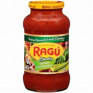Ragu Chunky Pasta Sauce, Garden Combination, 24 Oz | Jet.com