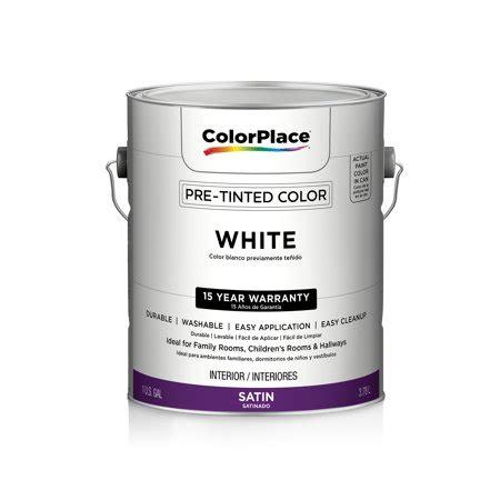 color place interior satin paint white walmart