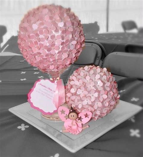 baby girl shower centerpieces centerpieces pink flowers ballerina ballet baby