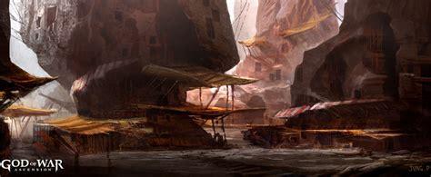 cliff dwellings landscape characters art god  war