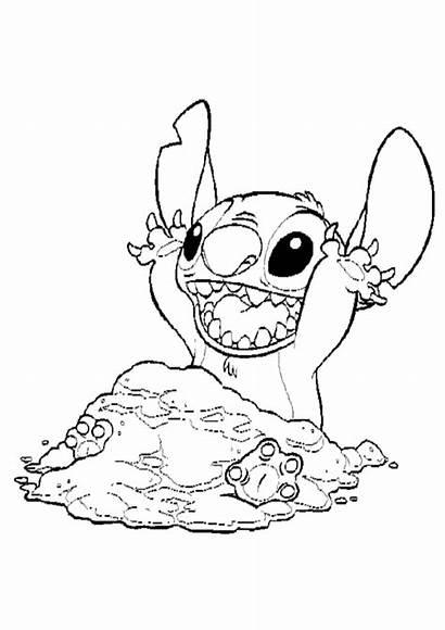 Stitch Coloring Lilo Disney Angel Drawing Stich
