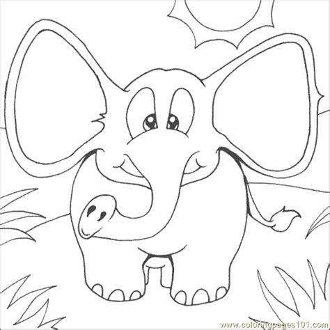 simple elephant coloring page  elephant coloring pages coloringpagescom