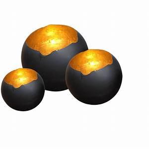 Stehlampe Schwarz Innen Gold : dekokugel aurora schwarz gold das glashaus ~ Bigdaddyawards.com Haus und Dekorationen