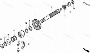 Honda Atv 1996 Oem Parts Diagram For Kick Starter Spindle