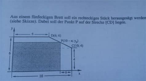 extremwertaufgabe max flaecheninhalt eines rechtecks
