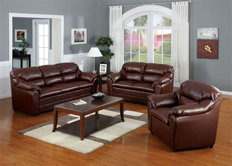 Brown Sofa And Loveseat Sets by Acme Connell Bonded Leather Match Living Room Set In Brown