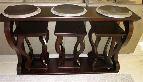 sofa table and stools sofa table thrifty thinking
