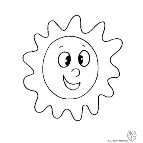 Disegno di Sole da colorare per bambini