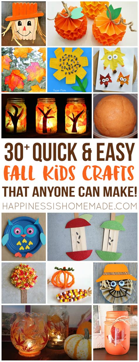 easy fall kids crafts     happiness