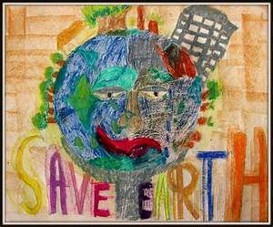 Save Earth Poster - Learning and Creativity