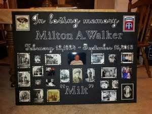 Funeral Memory Board Examples
