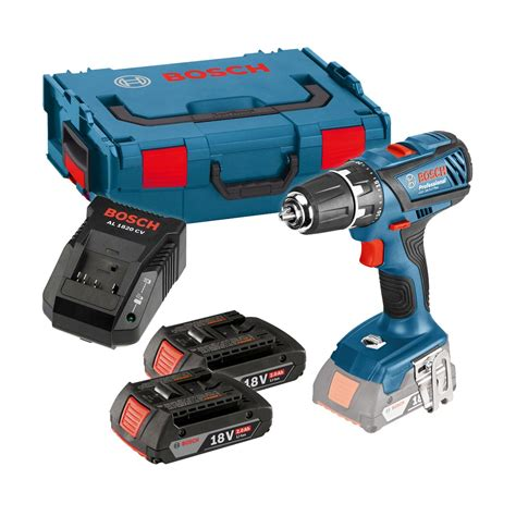 bosch gsr 18 2 li professional bosch gsr 18 2 li plus drill driver inc 2x 2 0ah batts in l boxx carry 06019e6170