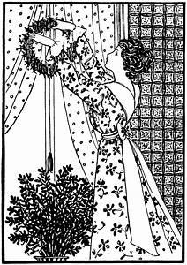 Lady Hanging Wreath Clip Art | Old Design Shop Blog