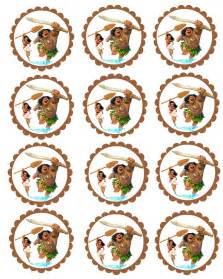 Moana Birthday Cupcakes Toppers Free Printables
