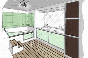 Plan 3d Salle De Bain : dessiner sa salle de bain en 3d gratuit trendy plan de ~ Melissatoandfro.com Idées de Décoration