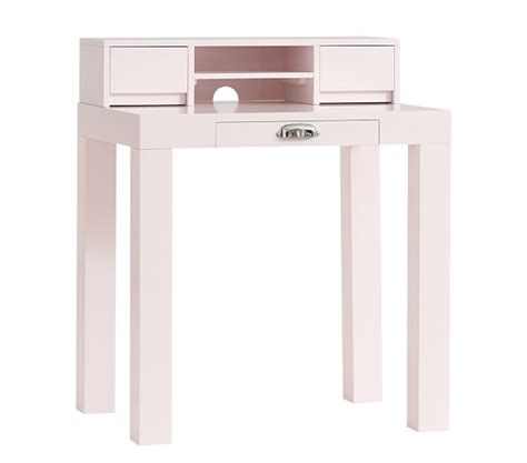 mini parsons desk knock parsons mini desk and hutch pale pink pottery barn