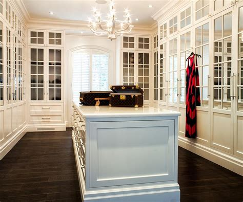 walk  closet  mirrored cabinet doors transitional