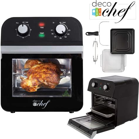 fryer air oven power convection chef airfryer rotisserie function multi xl countertop kitchen qt dehydrator capacity oil deco roaster cook
