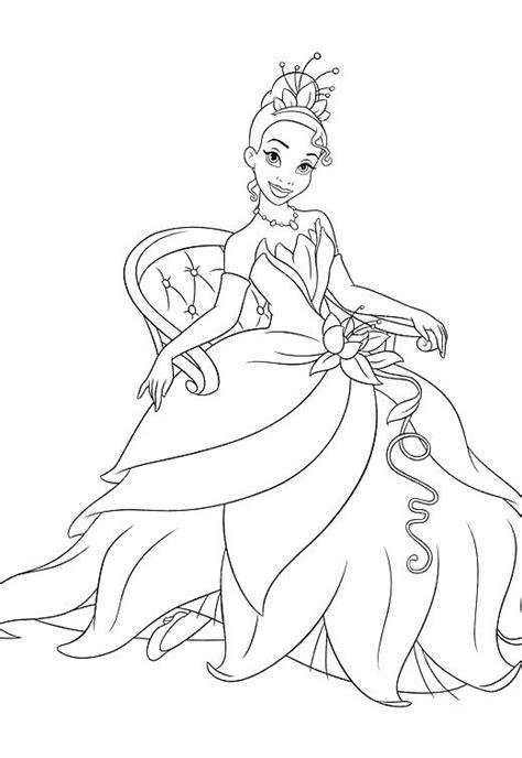 printable princess tiana coloring pages  kids princess coloring pages cinderella