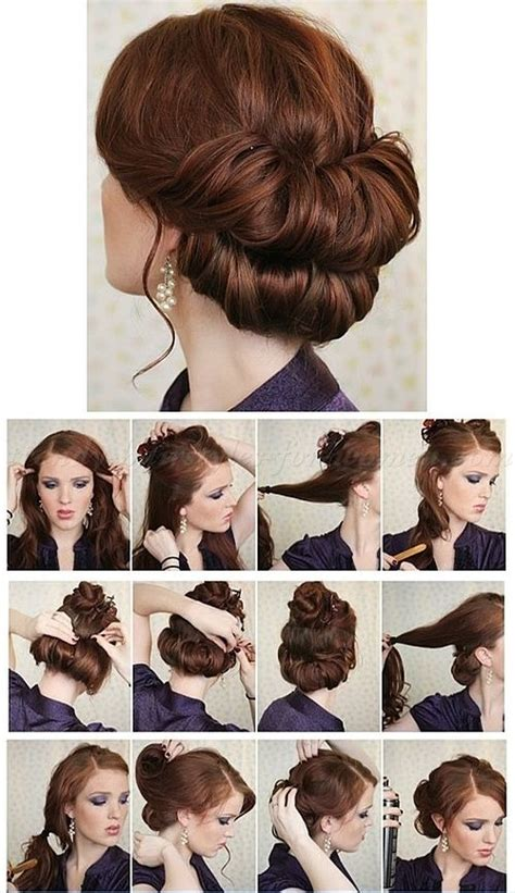 step  step hairstyle tutorials double chignon step