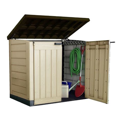 Metal Garden Storage Cabinet by Metal Storage Sheds And Containers For The Garden