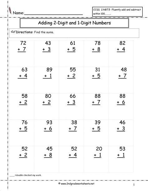 adding three single digit numbers worksheets homeschool