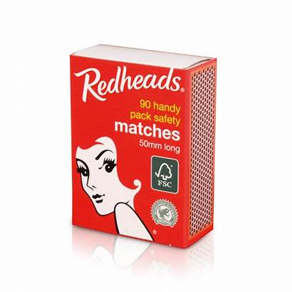 Matches Redheads Safety Wrapped Shrink Handypack Range