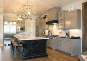 gray kitchen island gray cabinets 2 4 burrows cabinets central builder direct custom cabinets