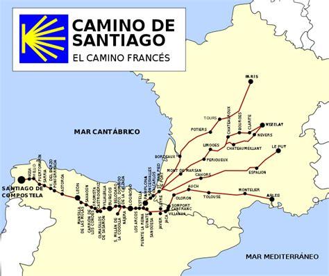 camino pilgrimage map camino de santiago walknd network