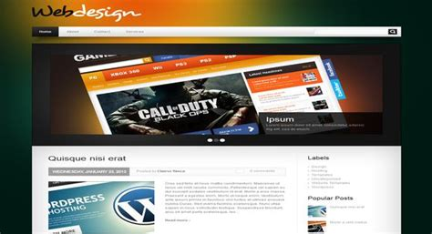 cultural spaces website template webdesign template 2014 free download