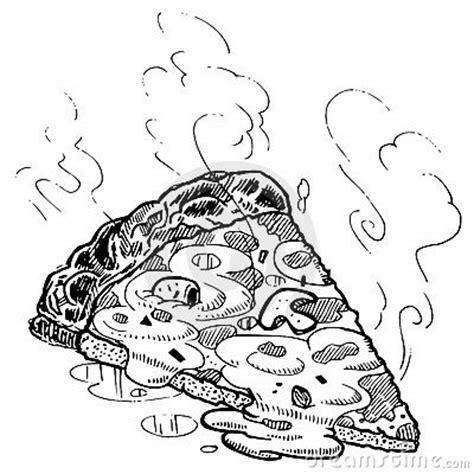 vector pizza slice sketch royalty  stock image image