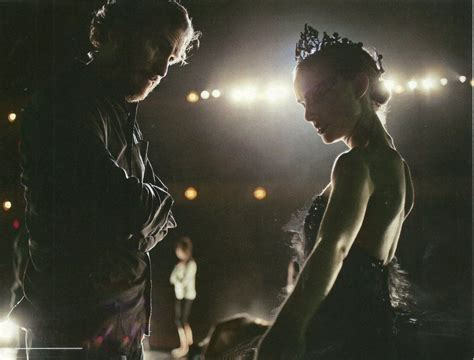 Natalie Portman and director Darren Aronofsky on the set ...