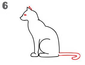cat drawing easy how to draw a cat step by step