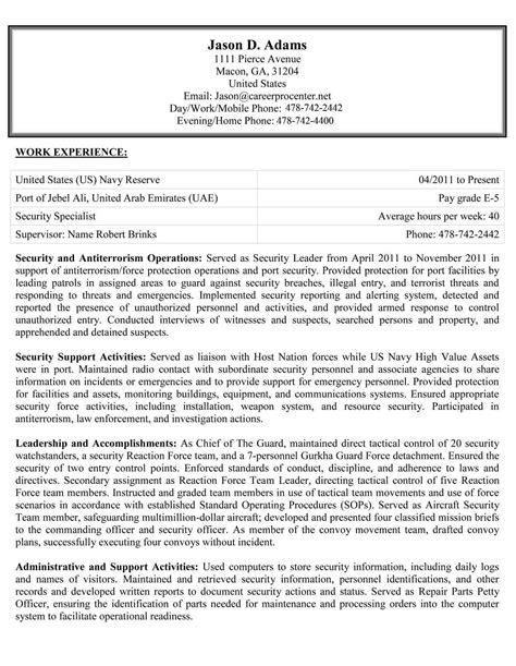 federal usajobs resume examples careerpro